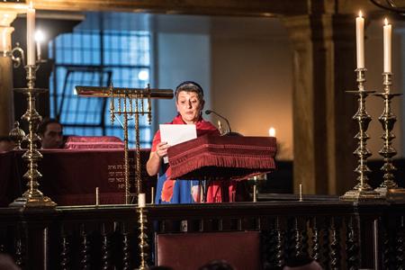 Rabbi Laura Janner-Klausner at Bevis Marks