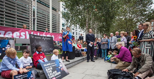 Calais Vigil at Home Office