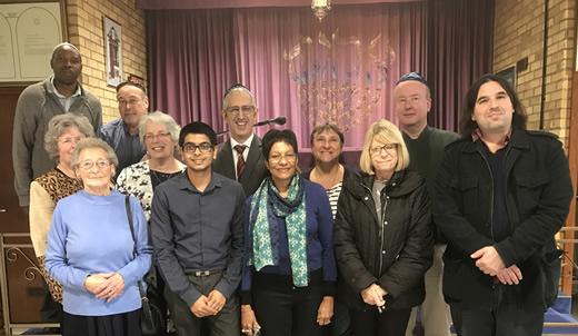 Representatives from the Hindu, Islamic, Buddhist, Catholic and Jewish faiths.