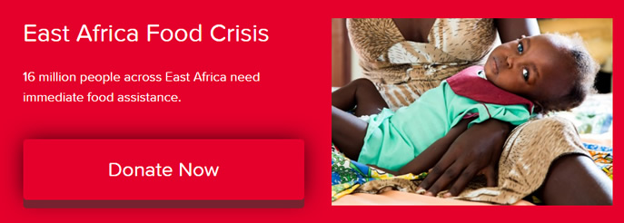 Across East Africa, 16 million people need immediate food assistance.
