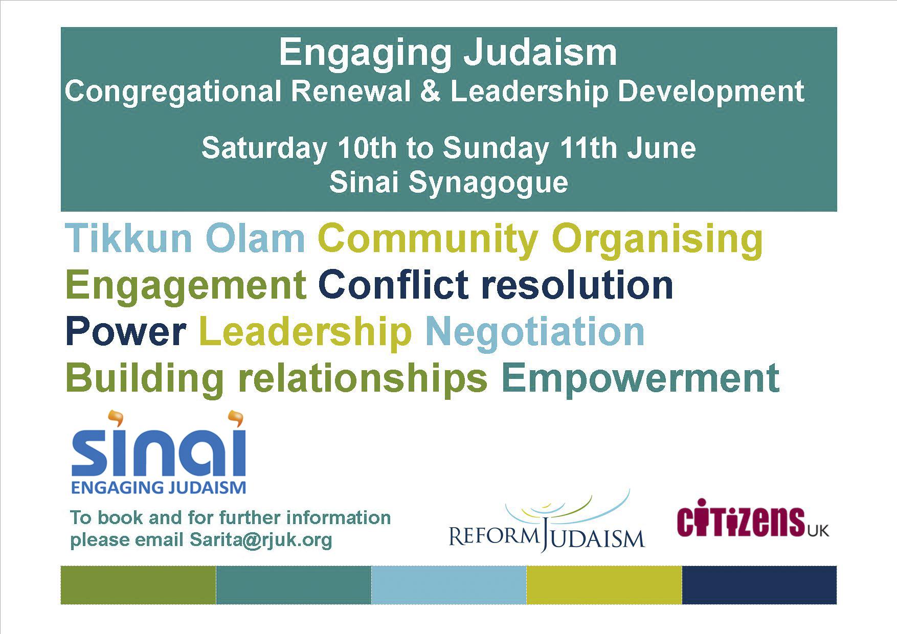 Congregational Renewal And Leadership Development Course – Sinai
