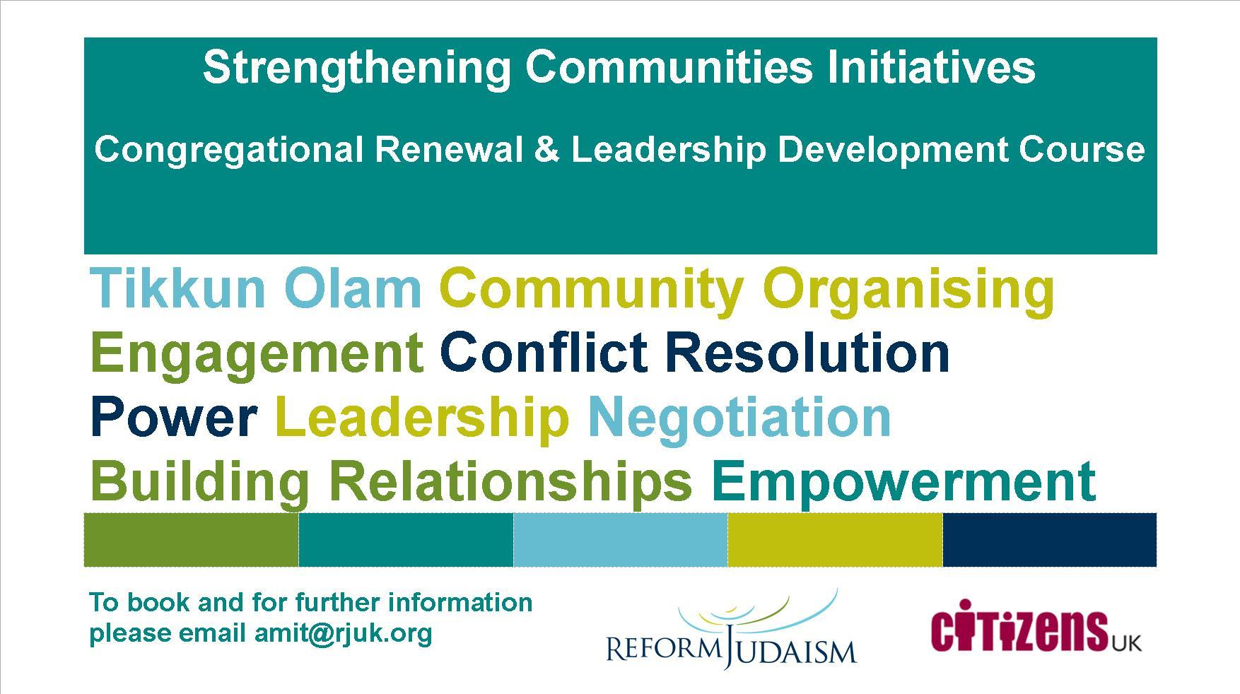 Congregational Renewal And Leadership Development Course – February 2018