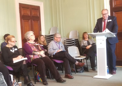 Andy Nazer, Campaign Manager at the Campaign to End Loneliness speaking at the Communities that Care Networking meeting