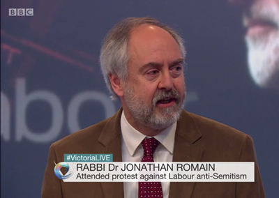 Rabbi Dr Jonathan Romain discusses allegations of anti-Semitism in the Labour Party on BBC 2'S victoria Derbyshire programme
