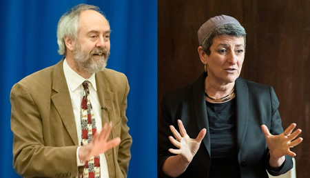 Rabbi Dr Jonathan Romain and Rabbi Laura Janner-Klausner