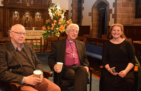 Professor Douglas Pratt, the Rt Revd Dr Michael Ipgrave, Bishop of Lichfield and Rabbi Debbie Young-Somers