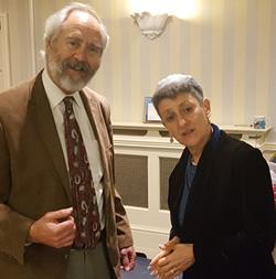 Rabbi Dr Jonathan Romain and Rabbi Laura Janner-Klausner in Cardiff