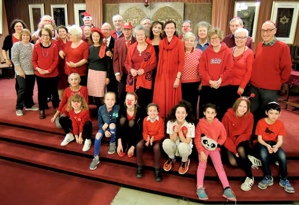 Members of Mosaic Jewish Community hosted a fundraising Comic Relief evening