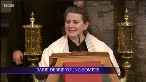 Rabbi Debbie Young-Somers at Westminster Abbey on Commonwealth Day
