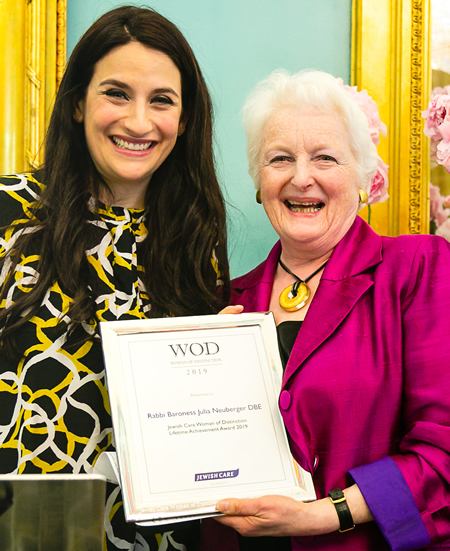 Rabbi Baroness Julia Neuberger and Luciana Berger – Jewish Care Women of Distinction 2019