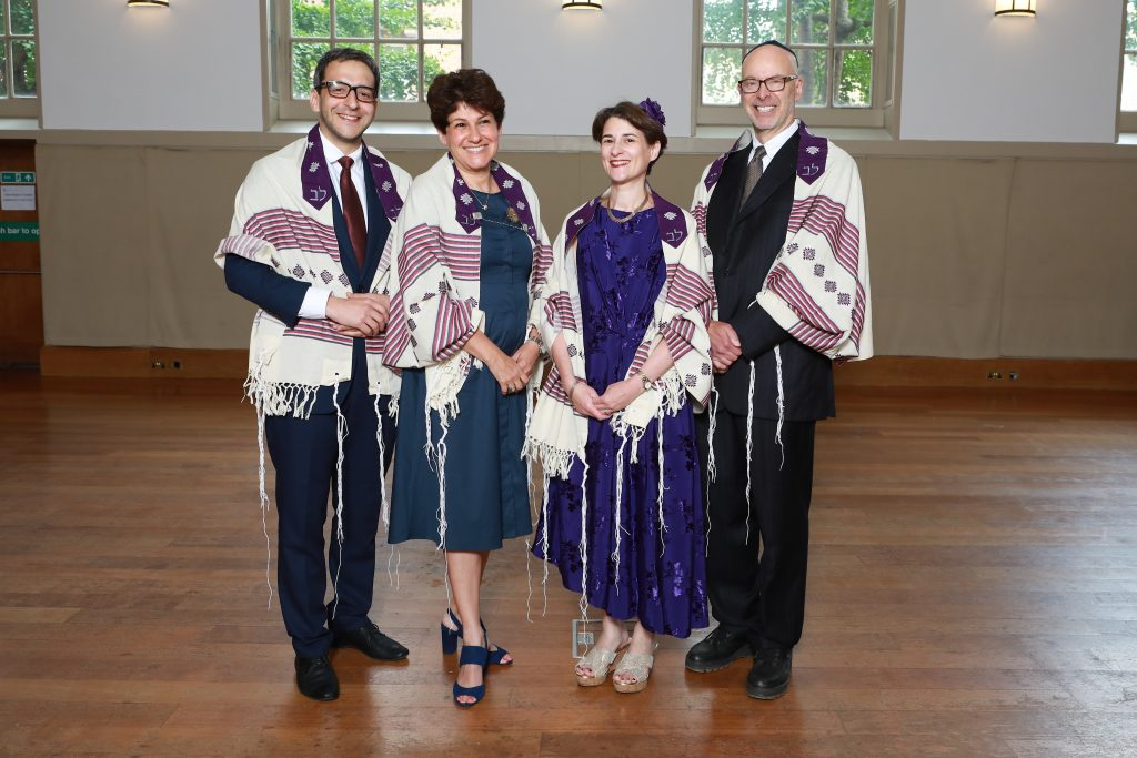 A photograph of the four new Rabbis ordained by Leo Baeck College