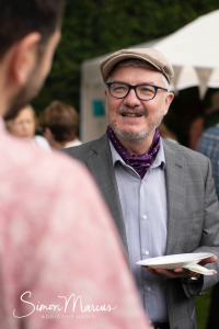 A photograph of Rabbi Strasko at the event