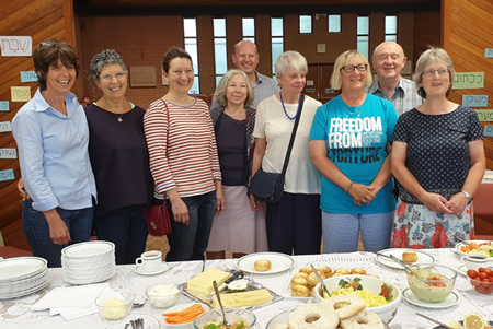 Freedom from Torture cyclists visit Newcastle Reform Synagogue