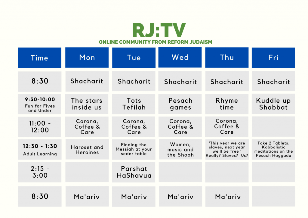 Timetable for RJ:TV