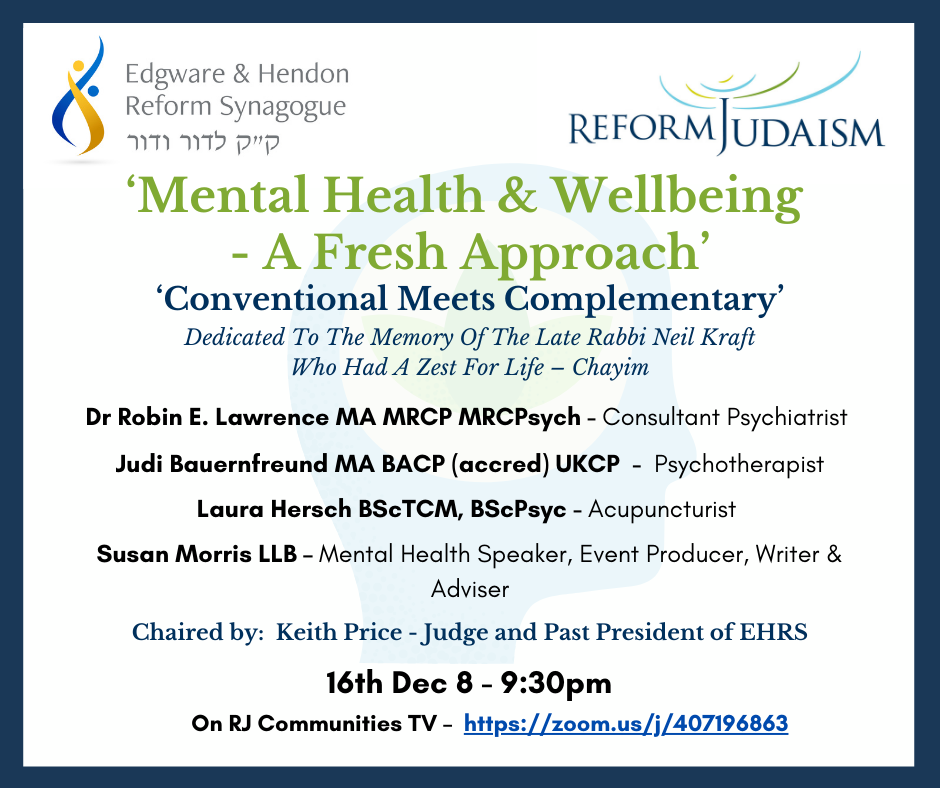 Mental Health and Wellbeing- A Fresh Approach