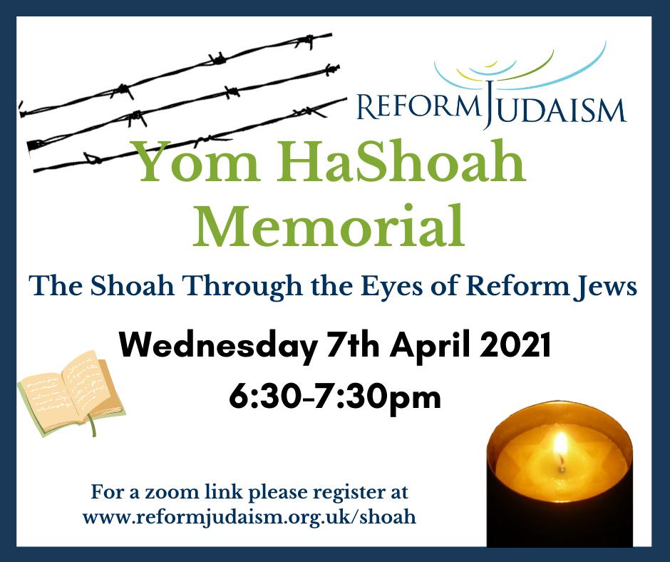 Reform Judaism Yom HaShoah Ceremony